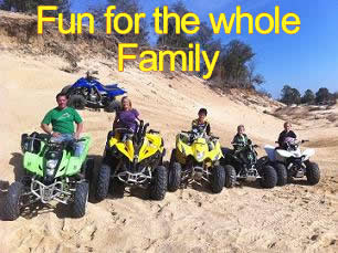 Our ATV Park is fun for the family